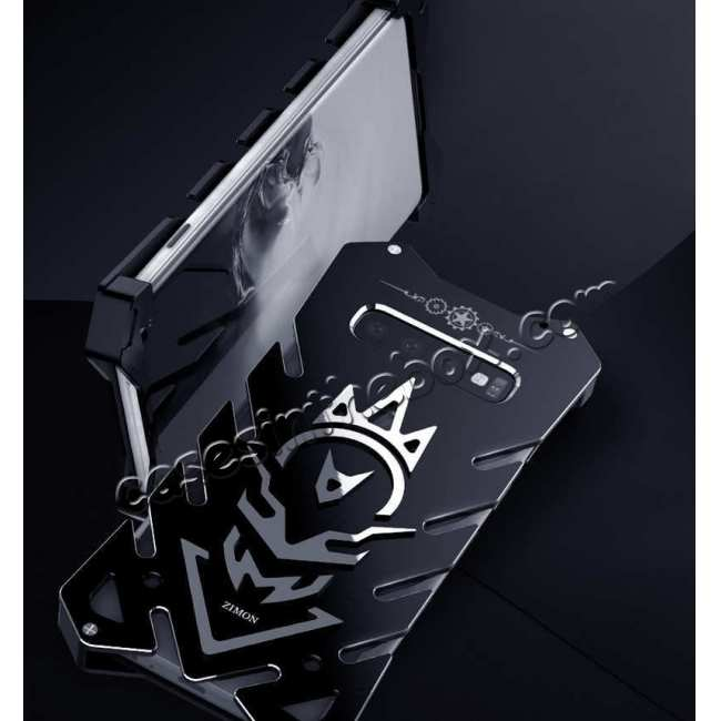 best price For Samsung Galaxy S10 Plus Shockproof Aluminum Metal Case - Black