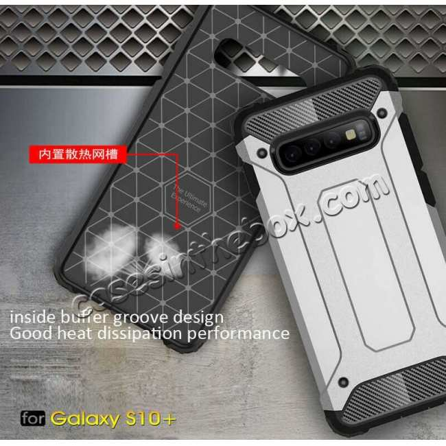 best price Hybrid Armor Case For Samsung Galaxy S10e Shockproof Rugged Bumper Cover - Grey