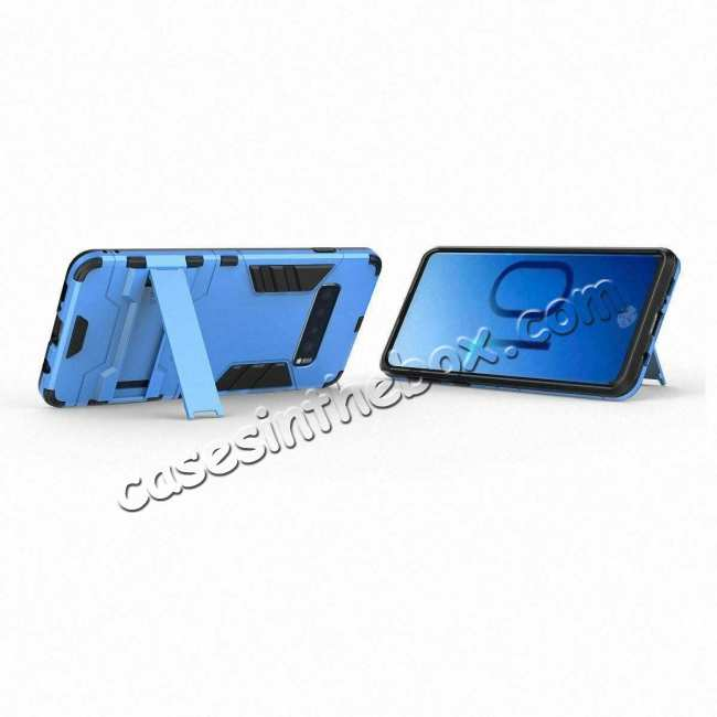 best price Shockproof Hybrid Armor Stand Case Cover For Samsung Galaxy S10e - Blue