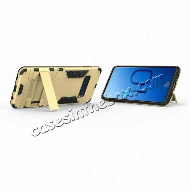 best price Shockproof Hybrid Armor Stand Case Cover For Samsung Galaxy S10e - Gold