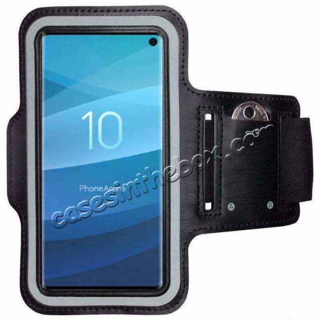 wholesale Sports Running Jogging Gym Armband Arm Band Case Cover for Samsung Galaxy S10e - Black