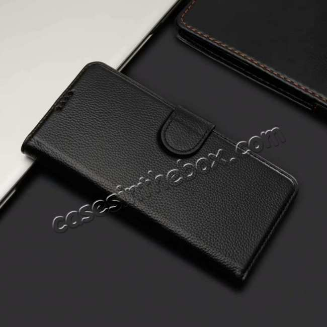 discount Wallet Stand Leather Case for Samsung Galaxy S10 Plus - Black