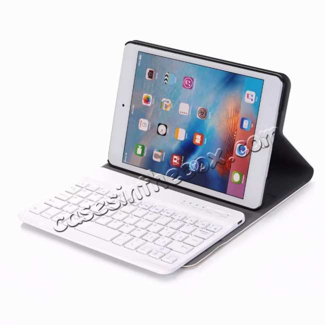discount For iPad Mini 5 Ultra-thin Detachable Bluetooth Wireless Keyboard Stand Leather Case - Gold