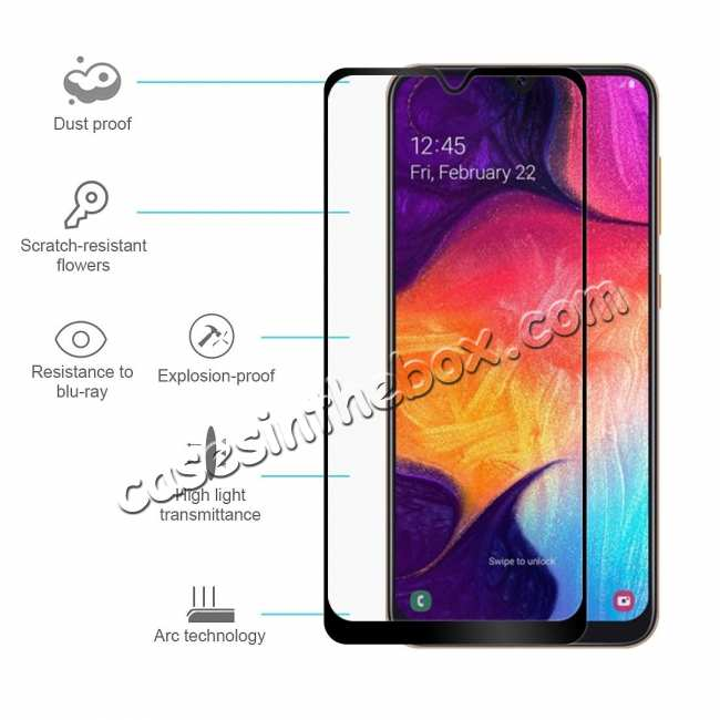discount For Samsung Galaxy A50 Full Coverage Tempered Glass Screen Protector