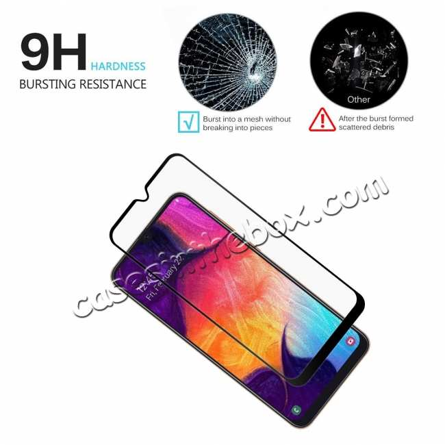 cheap For Samsung Galaxy A50 Full Coverage Tempered Glass Screen Protector