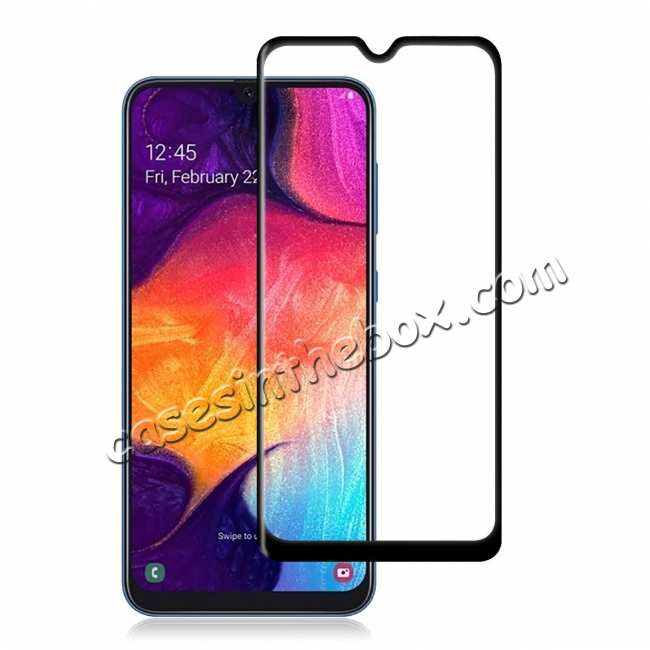 top quality For Samsung Galaxy A50 Full Coverage Tempered Glass Screen Protector