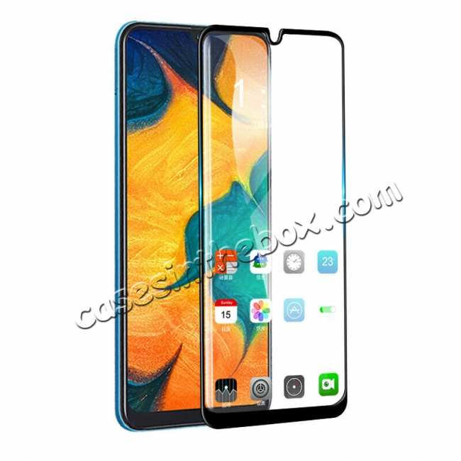 best price For Samsung Galaxy A50 Full Coverage Tempered Glass Screen Protector