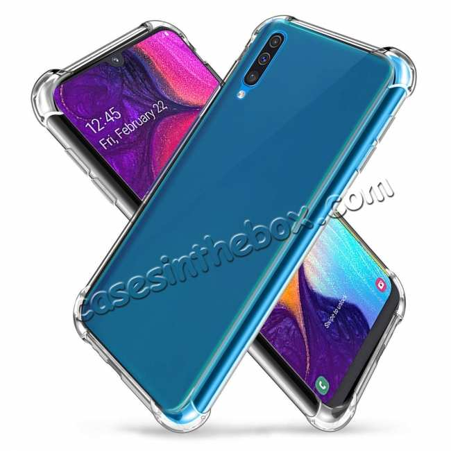cheap For Samsung Galaxy A50 Shockproof Rubber Clear Soft TPU Case Cover