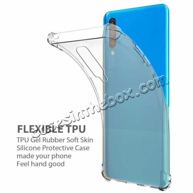 discount For Samsung Galaxy A50 Shockproof Rubber Clear Soft TPU Case Cover