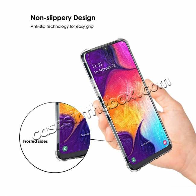 best price For Samsung Galaxy A50 Shockproof Rubber Clear Soft TPU Case Cover