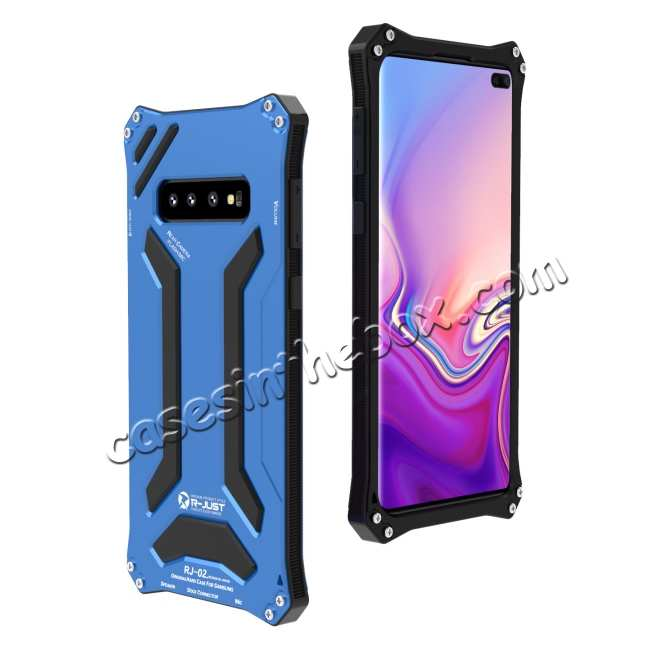 cheap Shockproof Aluminum Metal TPU Case Cover For Samsung Galaxy S10 - Gold