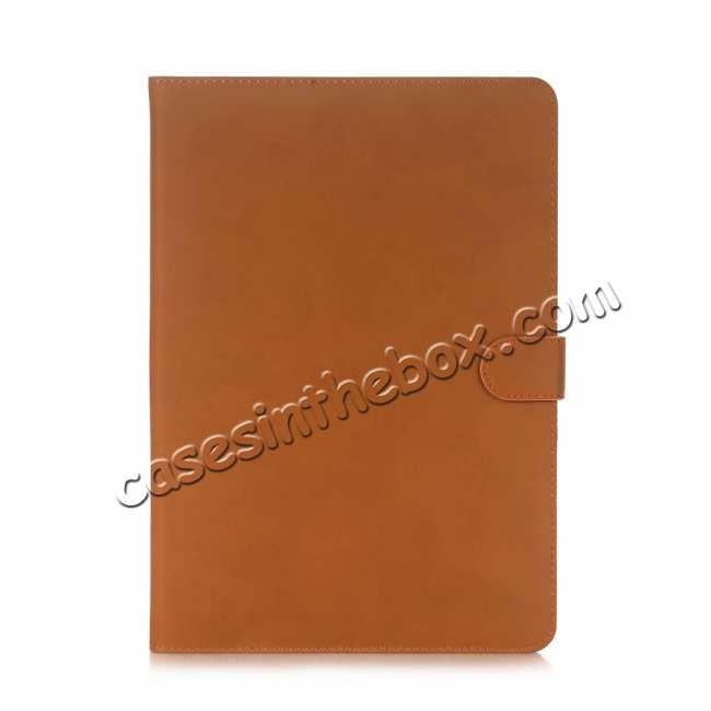 discount For iPad Air 2019 10.5 Retro Folio Magnetic Leather Case With Stand  - Brown