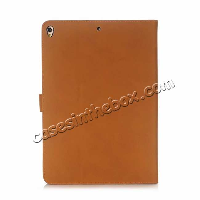 cheap For iPad Air 2019 10.5 Retro Folio Magnetic Leather Case With Stand  - Brown