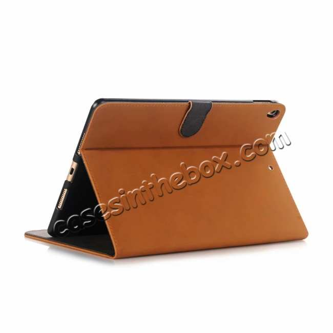 wholesale For iPad Air 2019 10.5 Retro Folio Magnetic Leather Case With Stand  - Brown