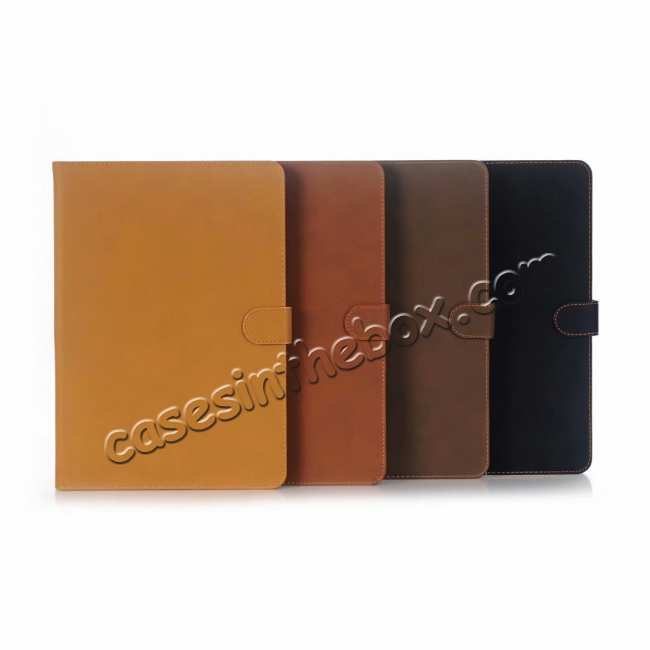 best price For iPad Air 2019 10.5 Retro Folio Magnetic Leather Case With Stand  - Brown