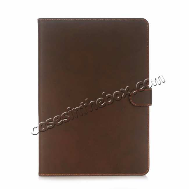 cheap For iPad Air 2019 10.5 Retro Folio Magnetic Leather Case With Stand  - Dark Brown