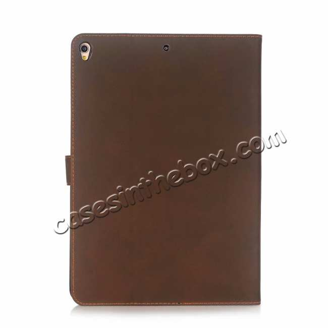 top quality For iPad Air 2019 10.5 Retro Folio Magnetic Leather Case With Stand  - Dark Brown