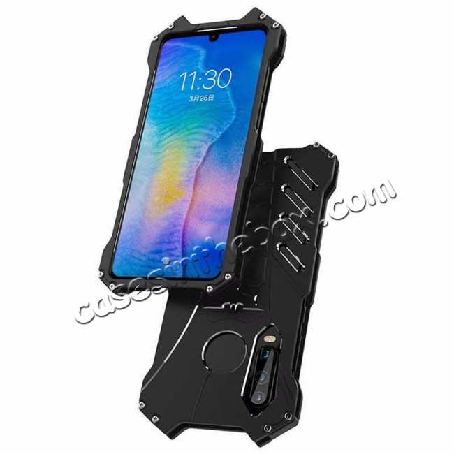 top quality Aluminum Metal Shockproof Protective Back Case for Huawei P30 - Black