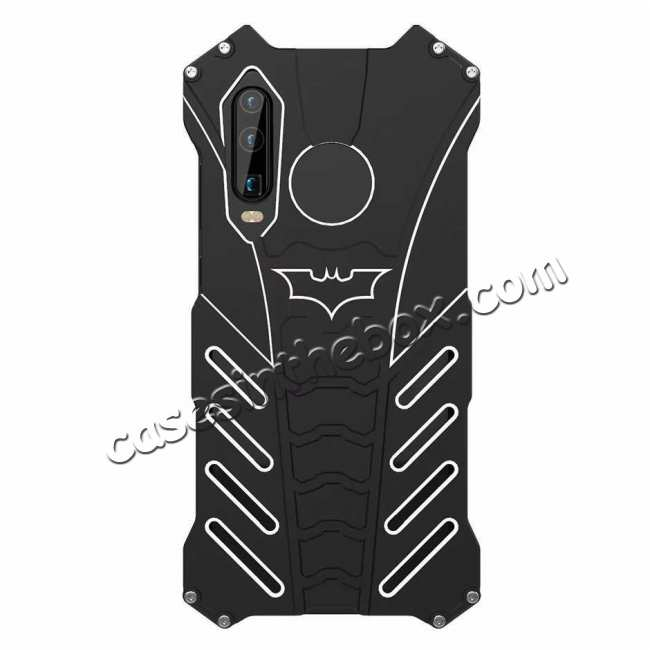 cheap Aluminum Metal Shockproof Protective Back Case for Huawei P30 - Black