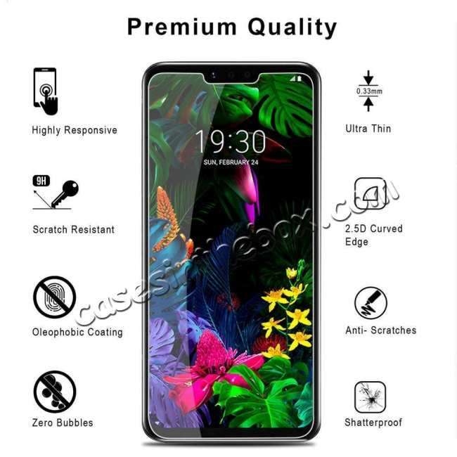 discount 2-Pack For LG G8 ThinQ G820 9H Premium Tempered Glass Genuine Screen Protector