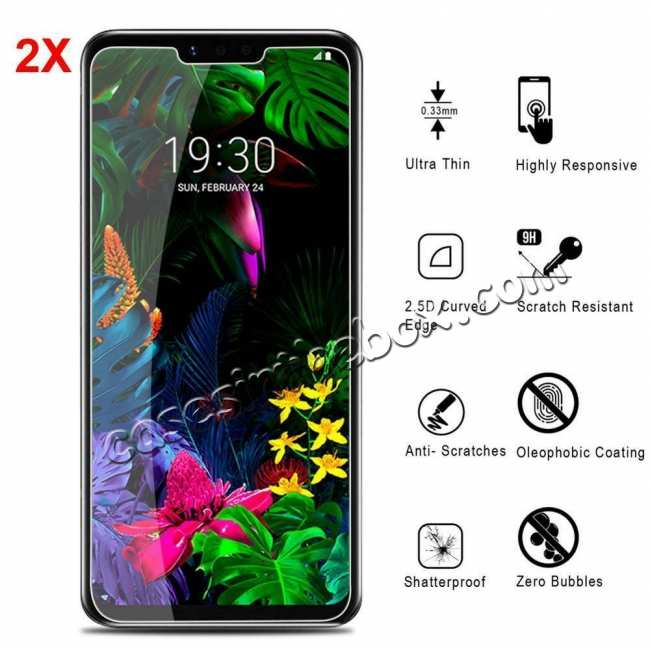 wholesale 2-Pack For LG G8 ThinQ G820 9H Premium Tempered Glass Genuine Screen Protector
