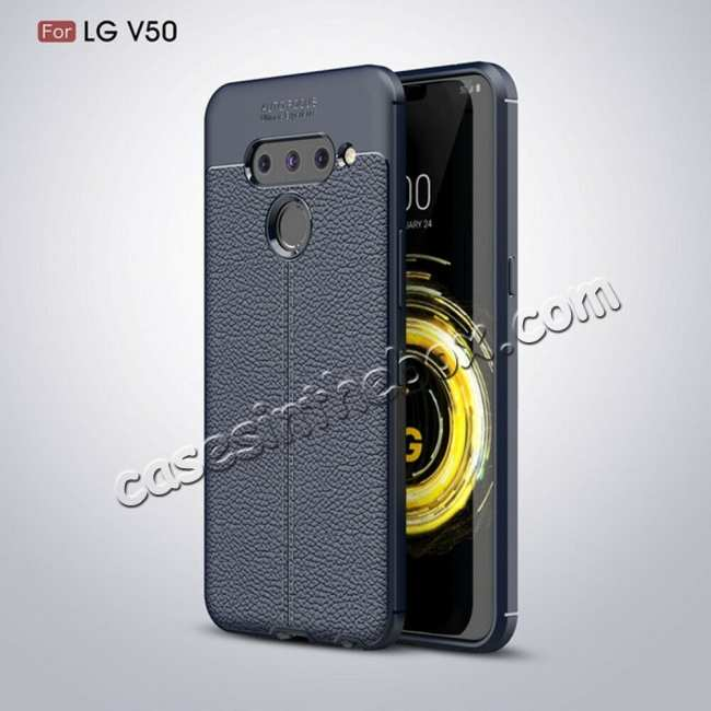 wholesale For LG G8 ThinQ Shockproof Armor Soft Slim TPU Back Case - Navy