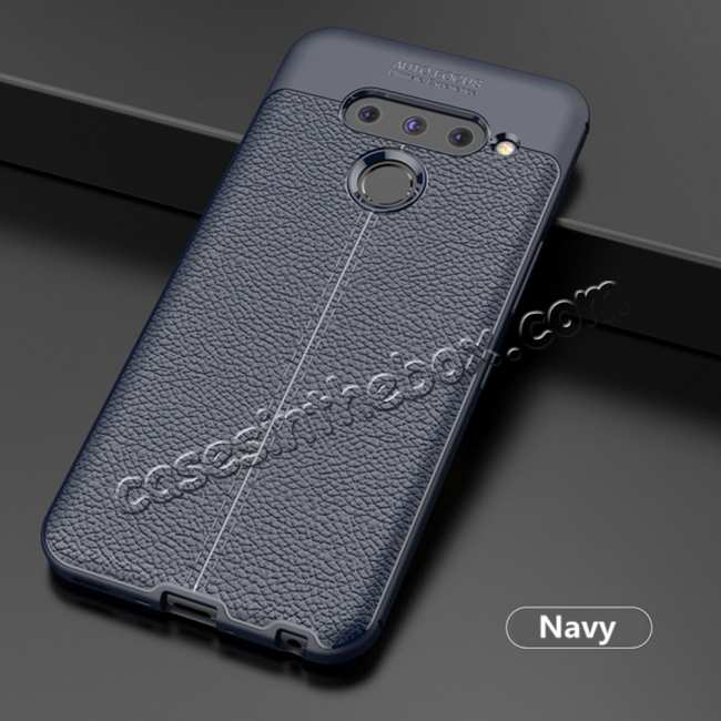 discount For LG G8 ThinQ Shockproof Armor Soft Slim TPU Back Case - Navy