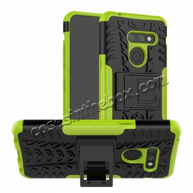 wholesale For LG G8 ThinQ Shockproof Hybrid Rugged Slim Case Cover - Green