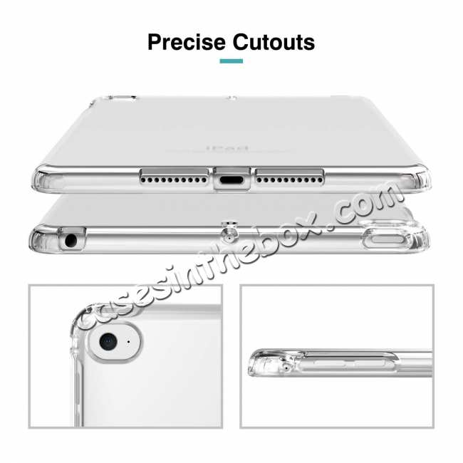 best price For iPad Mini 5 2019 Clear Grip Soft Flexible TPU Shockproof Rubber Back Cover