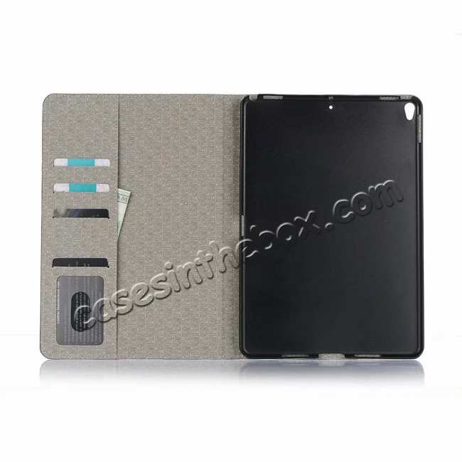 top quality For iPad Air 10.5 2019 Crocodile Skin Pattern Stand Leather Case - Black