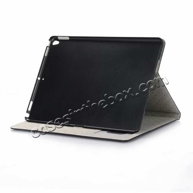best price For iPad Air 10.5 2019 Crocodile Skin Pattern Stand Leather Case - Black