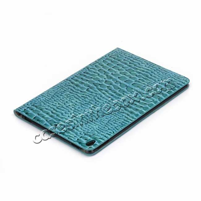 cheap For iPad Air 10.5 2019 Crocodile Skin Pattern Stand Leather Case - Blue