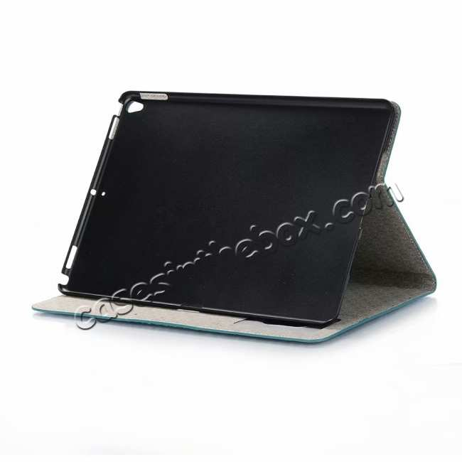 discount For iPad Air 10.5 2019 Crocodile Skin Pattern Stand Leather Case - Blue