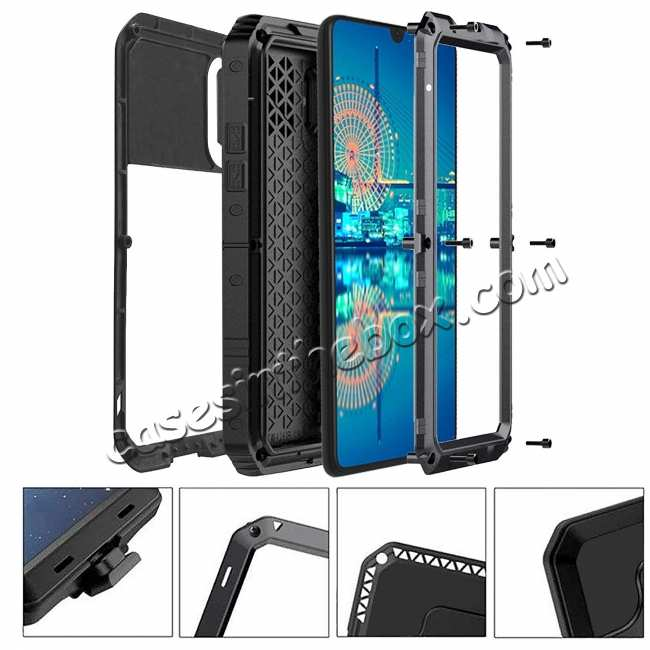 discount For Huawei P30 Pro Waterproof Alloy Metal Shockproof Case Cover Tempered Glass Silver