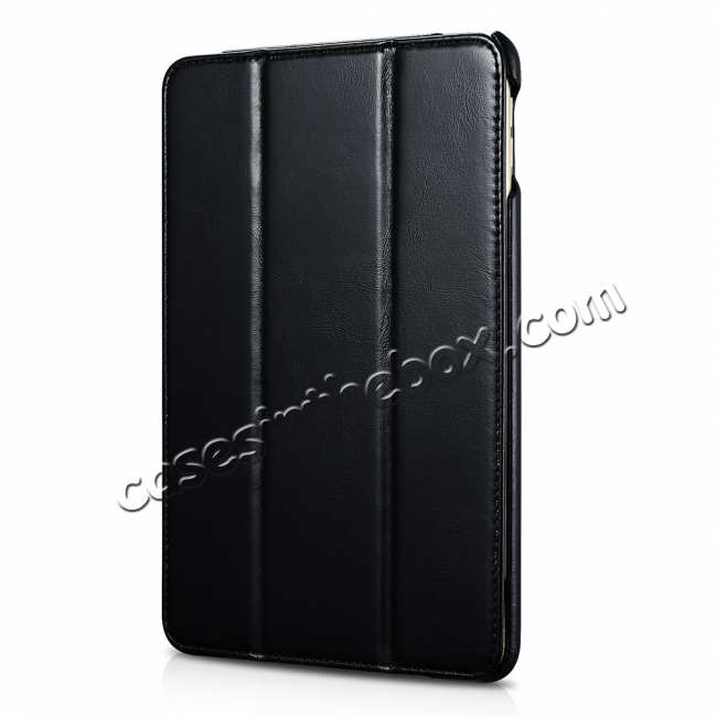 discount Case for iPad Mini 5 ICARER Genuine Leather Vintage Series - Black