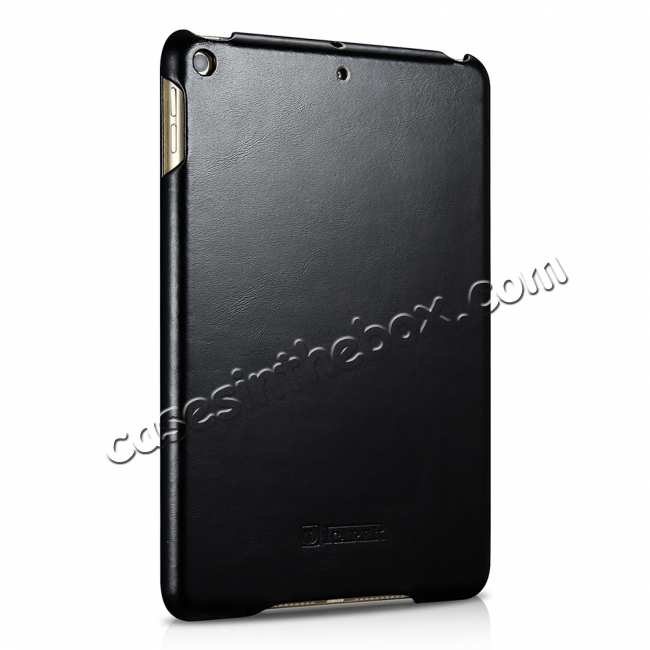 cheap Case for iPad Mini 5 ICARER Genuine Leather Vintage Series - Black