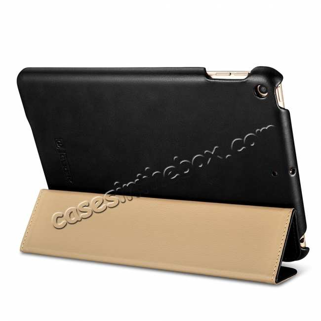 top quality Case for iPad Mini 5 ICARER Genuine Leather Vintage Series - Black
