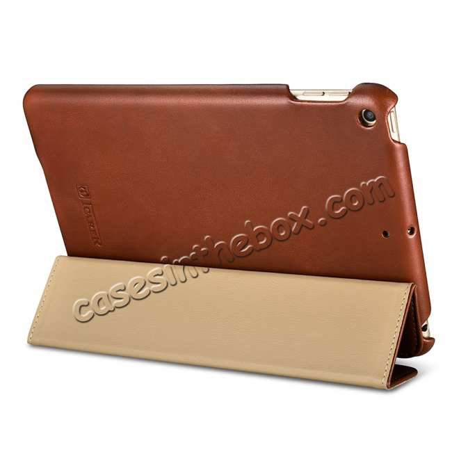 best price Case for iPad Mini 5 ICARER Genuine Leather Vintage Series - Brown