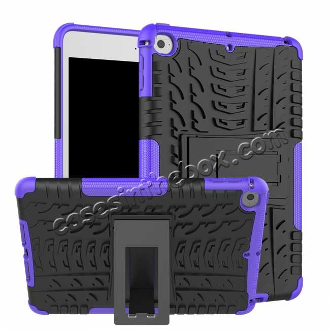 wholesale For iPad Mini 5 Case Hybrid Shockproof Cover - Purple