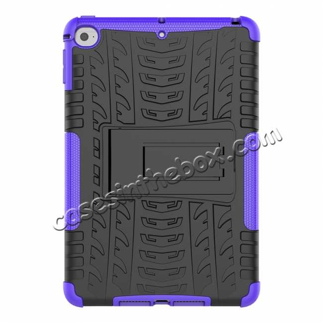 discount For iPad Mini 5 Case Hybrid Shockproof Cover - Purple