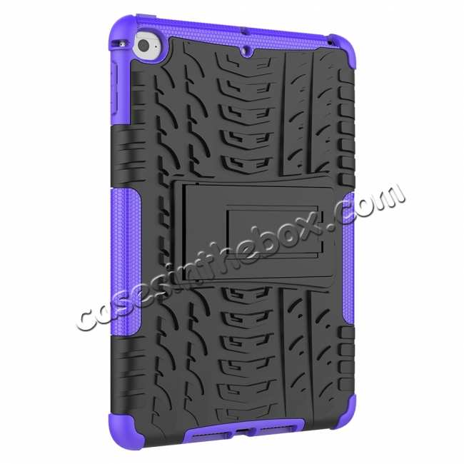 cheap For iPad Mini 5 Case Hybrid Shockproof Cover - Purple