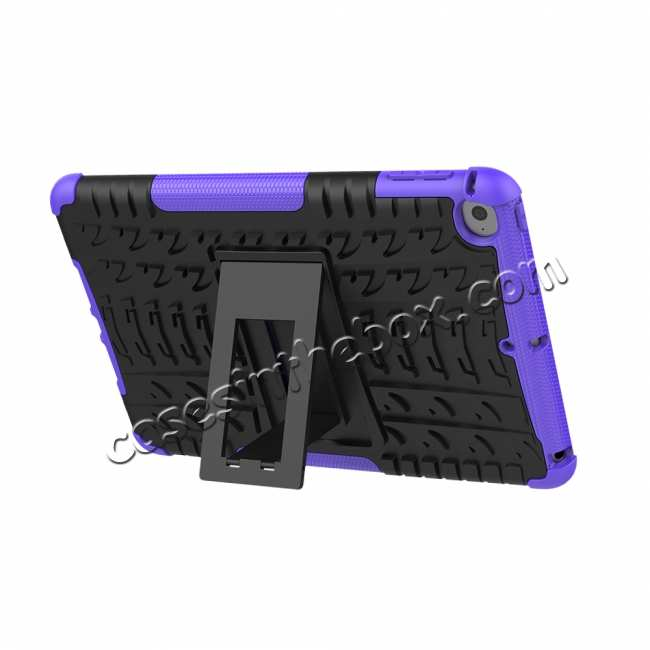 top quality For iPad Mini 5 Case Hybrid Shockproof Cover - Purple