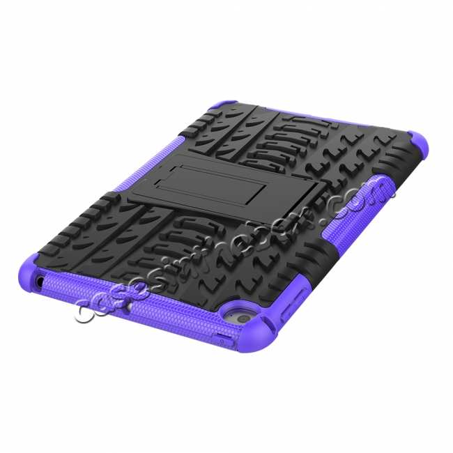 best price For iPad Mini 5 Case Hybrid Shockproof Cover - Purple