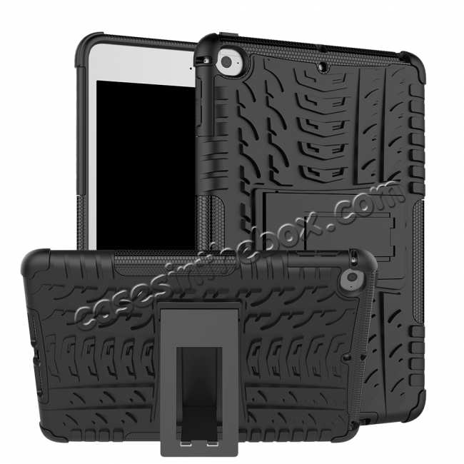 wholesale For iPad Mini 5 Kickstand Case Hybrid Shockproof Cover - Black
