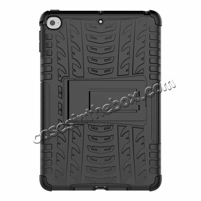 discount For iPad Mini 5 Kickstand Case Hybrid Shockproof Cover - Black