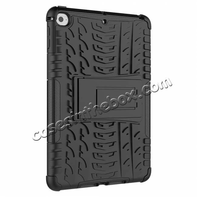 cheap For iPad Mini 5 Kickstand Case Hybrid Shockproof Cover - Black