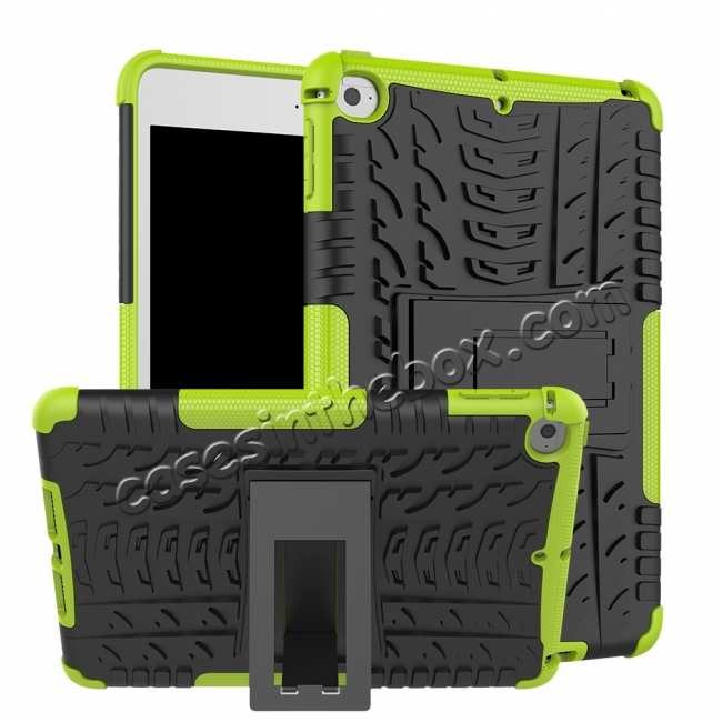 wholesale For iPad Mini 5 Case Protection Shockproof Rugged Cover- Green