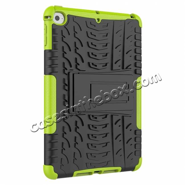 cheap For iPad Mini 5 Case Protection Shockproof Rugged Cover- Green