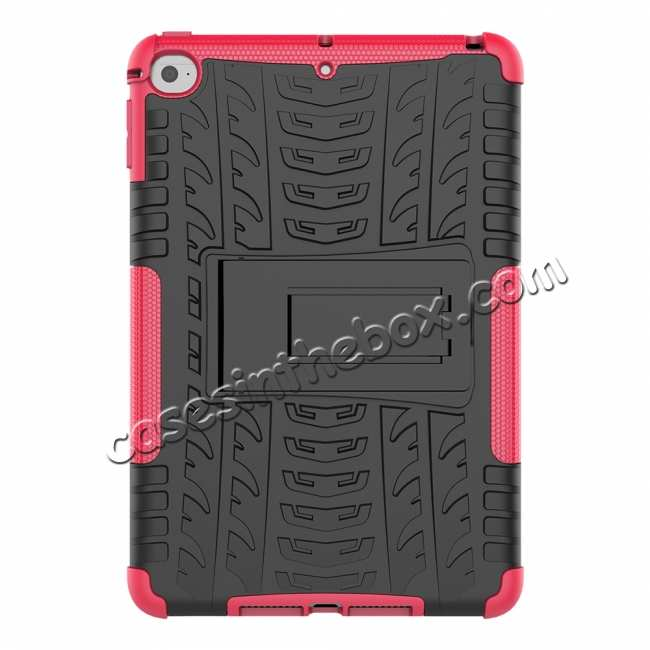 discount For iPad Mini 5 Kickstand Shockproof Case Hot Pink