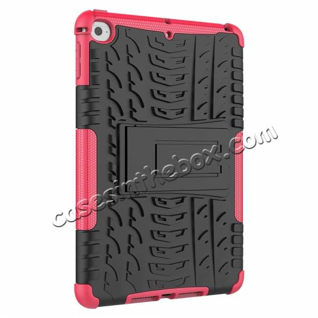 cheap For iPad Mini 5 Kickstand Shockproof Case Hot Pink